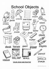 Objects Worksheets Classroom Worksheet Flashcards Places Esl Practice Posters Islcollective Printables Screen Read Elementary Send Code Each sketch template