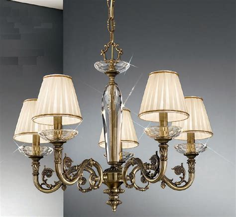 kolarz contarini 5 light antique brass chandelier with
