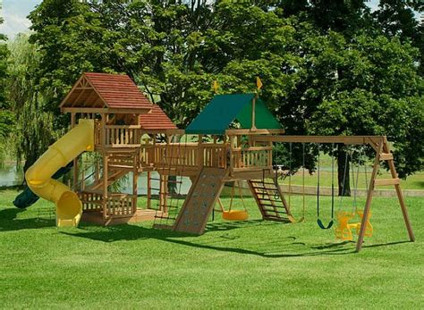 swing set plans  woodworking projects plans