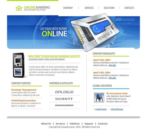 Bank Website Template - Web Design Templates Website Templates Download Bank Website Template ...