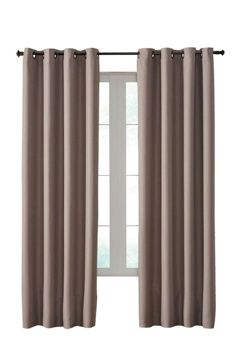 shangri la insulated curtain pewter 50 inches x 95