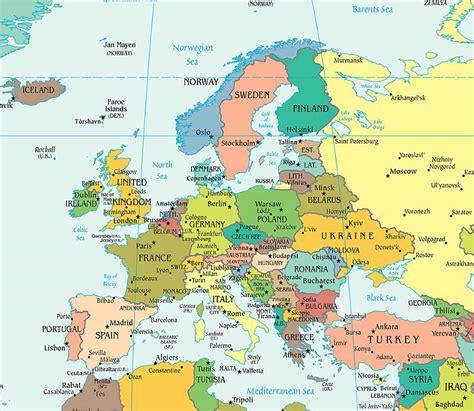 cuisine avec ot central europe political map political map of europe worldatlas com