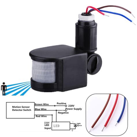 motion sensor light repair ed outdoor 110 220v infrared pir motion sensor detector