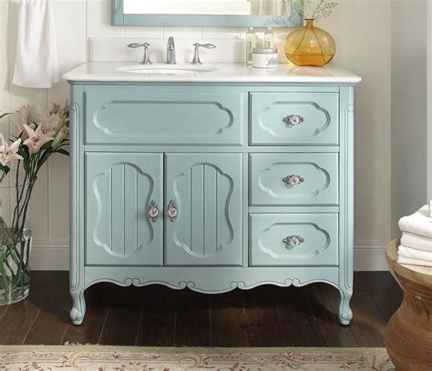 Adelina 42 Inch Antique Cottage Bathroom Vanity Light Blue