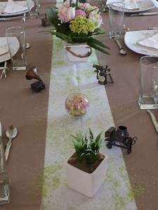 fete des peres en marron blanc et rose tables et deco With association de couleurs avec le bleu 9 decoration de table ete table fete mariage et