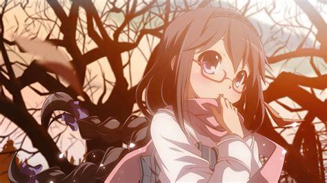 Anime Girls Glasses Blushing Wallpapers Hd Desktop And
