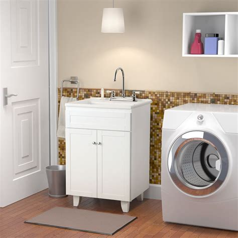 Laundry Room Vanity Sink - bramlea 30 in laundry sink caninet faucet kit home