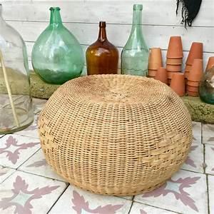 Pouf En Osier : pouf en osier brocanteandco boutique en ligne de brocante ~ Teatrodelosmanantiales.com Idées de Décoration