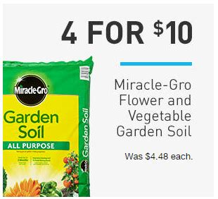 miracle gro 0 75 cu ft flower and vegetable garden soil
