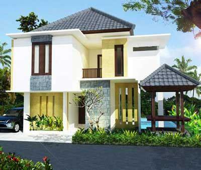 dunia arsitek contoh rumah minimalis modern  lantai