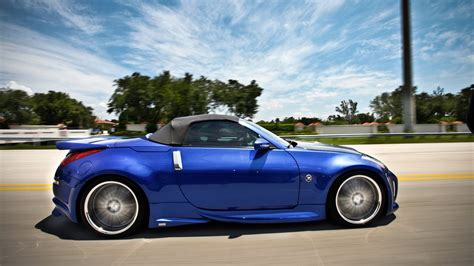 nissan convertible nissan 350z roadster wallpapers hd convertible blue