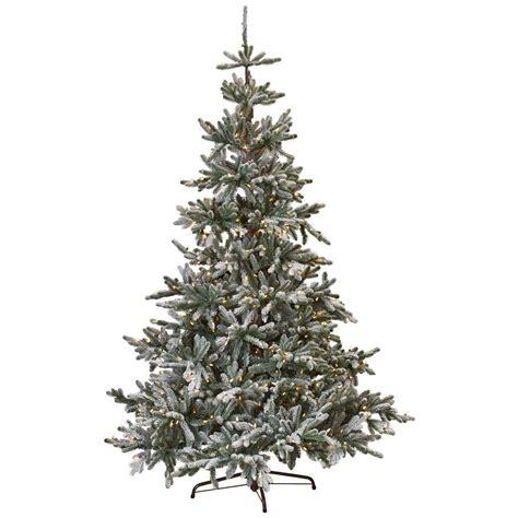 martha stewart christmas trees martha stewart living 7 5 ft indoor pre lit snowy