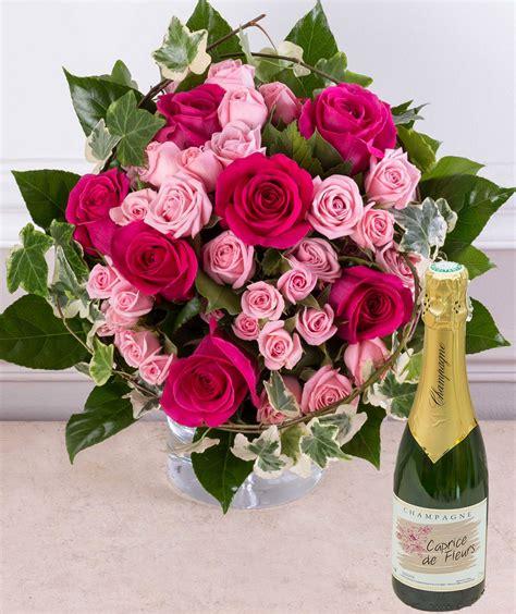 bouquet de fleurs anniversaire photo cadeau anniversaire livraison bouquet de roses et chagne