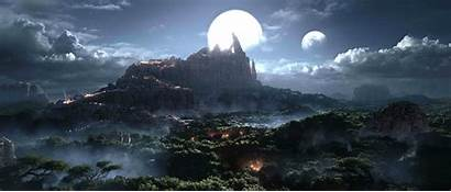 Warcraft Landscape Wallpapers Fantasy Wow Warlords Draenor