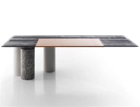 marble and wood dining table nella vetrina arcaico marmo luxury italian marble wood