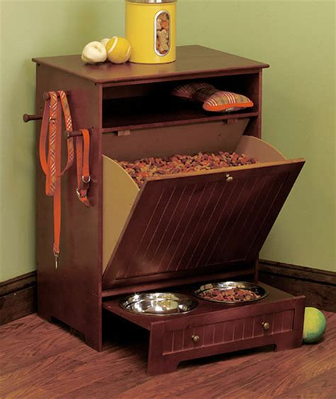 Food Storage Cabinet by Pet Food Storage Cabinet Built In Feeding Bowls Wooden