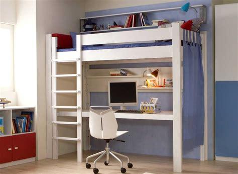 bureau de lit lit mezzanine bureau 90 x 200 cm en hêtre massif