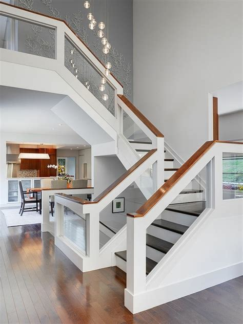 designs d 39 escaliers avec garde corps en verre