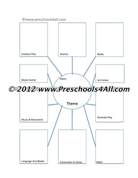 Toddler Classroom Web Template Blank by Preschool Lesson Plan Template Lesson Plan Book Template