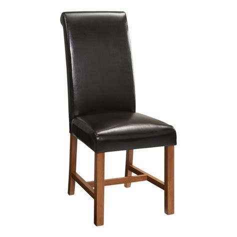 wren living riviera brown scroll braced dining chair