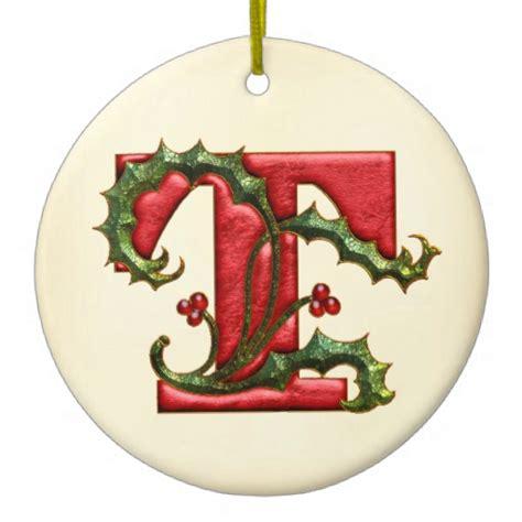 christmas holly monogram t christmas ornaments