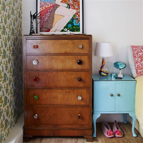 Retro Bedroom With Upcycled Furniture  Small Bedroom