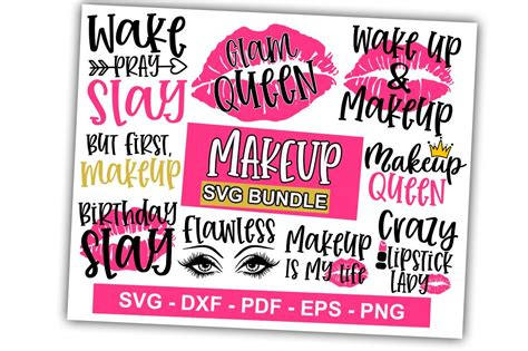 Da click aquí y descarga mother's day bundle 15 gráfico · window, mac, linux · última actualización 2020 · licencia comercial incluída ✓. Makeup SVG Bundle Vol-01 (Graphic) by svgbundle.net | Svg ...
