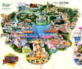 Harry Potter Universal Orlando Map