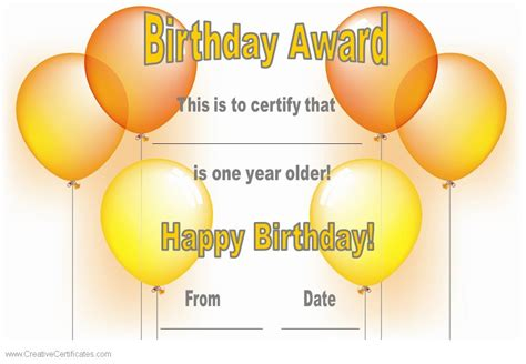 free happy birthday template search results for birthday gift certificate templates