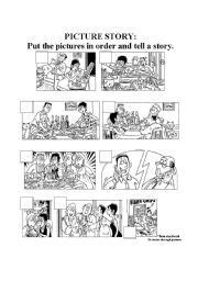 english worksheet picture story   images