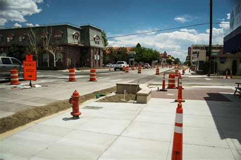 downtown sidewalk construction  carson
