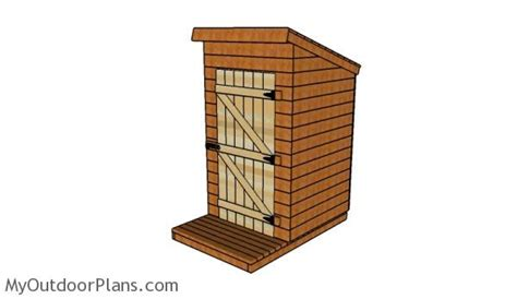 outhouse plans myoutdoorplans  woodworking plans