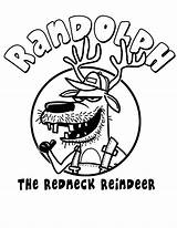 Coloring Pages Redneck Randolph Reindeer Hillbilly Kleurplaten Christmas Template Horse Getcolorings Printable sketch template