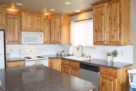 kitchens without backsplash fresh and simple beadboard backsplash for the kitchen