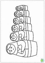 Matryoshka Dinokids Russas Bonecas Matrioshka sketch template