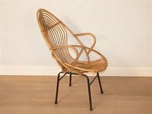 Fauteuil Pied Metal : fauteuil rotin pied metal ~ Teatrodelosmanantiales.com Idées de Décoration
