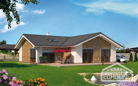 garage with living space bungalov 1175 family houses euroline 2