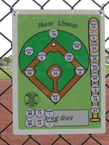 Baseball Softball Line Up Board Softball Coach Team Mom