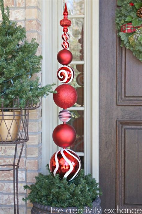 diy tall ornament topiary christmas pinterest