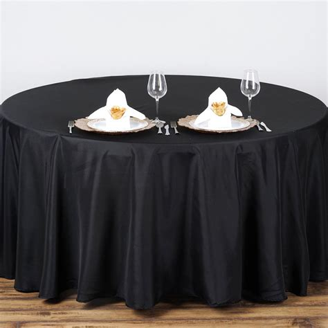 "6 Pcs 90"" Round Polyester Tablecloth Wedding Party Table"