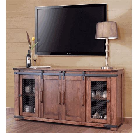 Tv Cabinet With Doors by Parota Rustic 70 Quot Tv Stand W Cabinet Doors New Maybe
