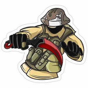 Cs Go Profilbild : counter terrorist holding karambit cs go stickers by darkflash23 redbubble ~ Watch28wear.com Haus und Dekorationen