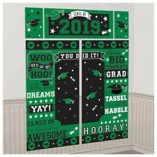 Buy graduation party decorations and get the best deals at the lowest prices on ebay! GRADUATION Scene Setter CLASS OF 2020 Party Wall Decorations Grad Backdrop GREEN | eBay