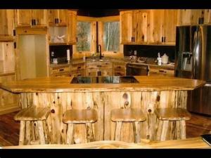 Rustic Kitchen Cabinets - Wood Kitchen Cabinets - YouTube