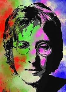 John, Lennon, Pop, Art, Closeup, Greeting, Card, For, Sale, By