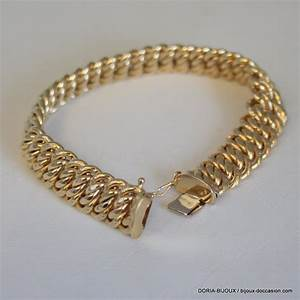 bracelet or 18k 750 maille americaine 204grs l39atelier With bijoux or