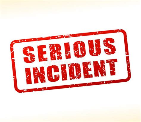 Serious Incident Text Buffered Stock Vector Illustration