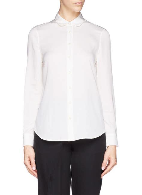 collar blouse womens blouse pan collar silk blouses