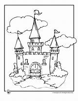 Coloring Castle Disney Printable Drawbridge Template Cinderella Drawing Colour Fairy Barrel Racing Templates Clipart Tales Adults Popular sketch template