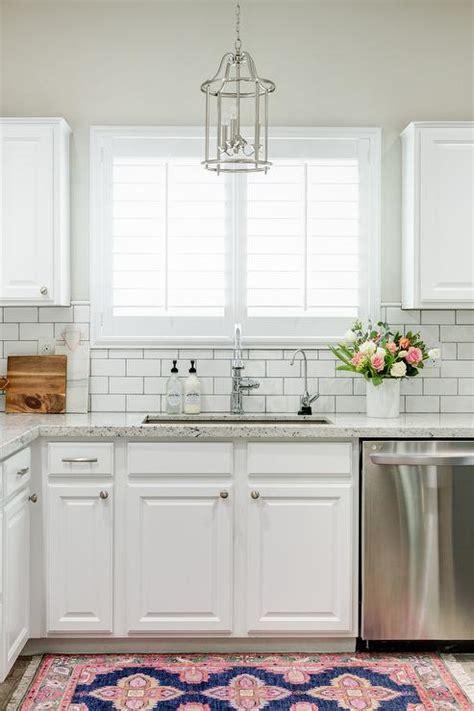 white kitchen subway tile white granite kitchen countertops with white subway tile backsplash transitional kitchen